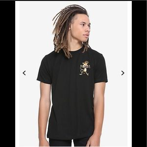 🍅 Rick and Morty black Squanchy T-shirt new